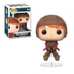 Ron Weasley sobre escoba